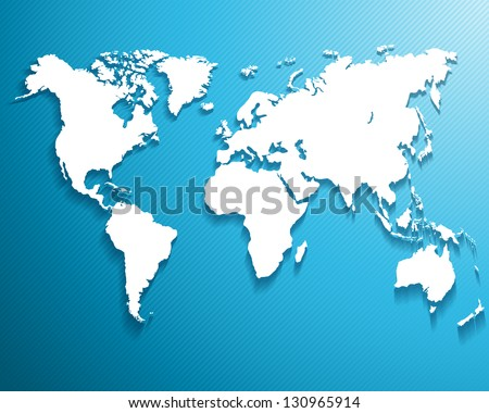 Blue world map background download free vector art stock graphics abstract background with a map of the world ctor illustration gumiabroncs Image collections