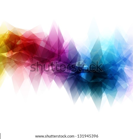 Abstract background with a triangular design