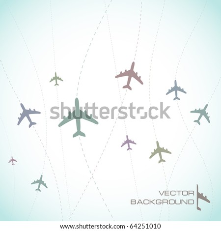 Abstract background with airplane lines.
