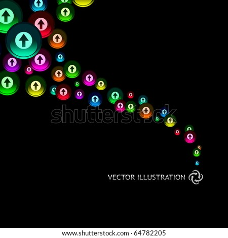 Abstract background with arrow signs. Vector illustration.