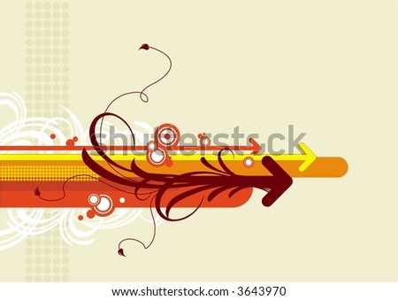 Abstract background with arrows #3643970