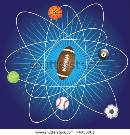 Abstract background with balls for sport games.