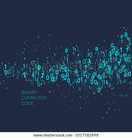 Abstract background with binary code. Analysis and data transfer. Vector illustration