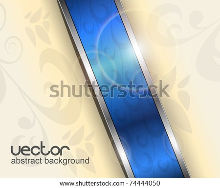 Abstract background with blue banner, vector.