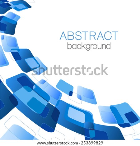 Abstract background with blue rectangles