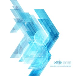 Abstract background with blue stripes corner. Concept new technology and dynamic motion.