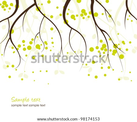 Abstract background with branches of trees