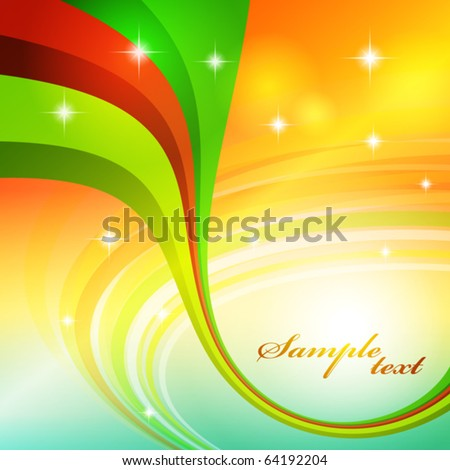 Abstract background with bright color line. Vector