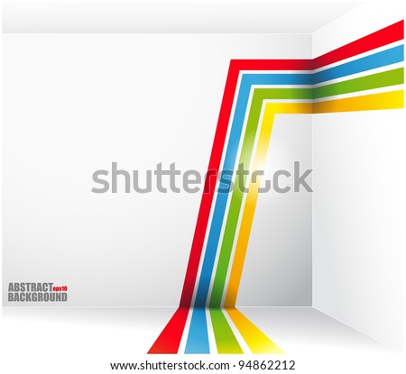 Abstract background with bright strips and a place under the text. vector stock photo