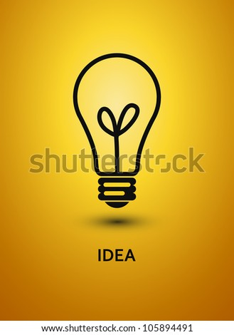 Abstract background with bulb. Vector illustration. - stock vector