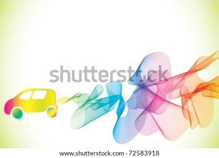Abstract background with car. Vector Illustration