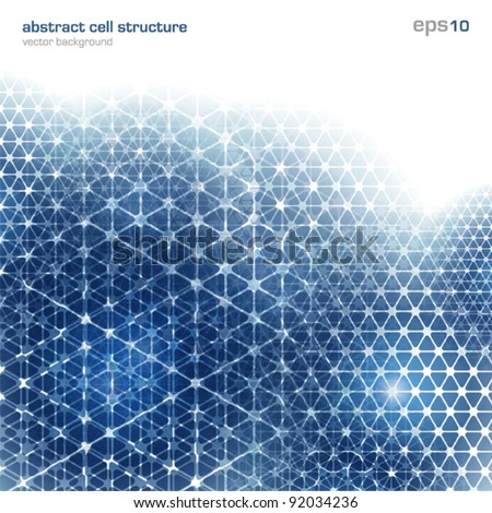 Abstract background with cell structure