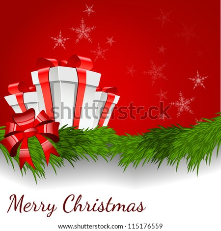 Abstract background with Christmas box - vector illustration