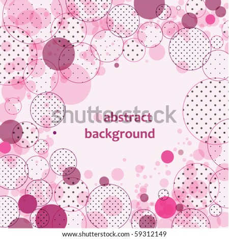 Abstract background with circles and polka dots