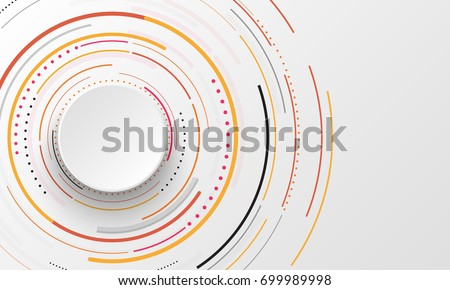 Abstract background with circles. Vector design element.
