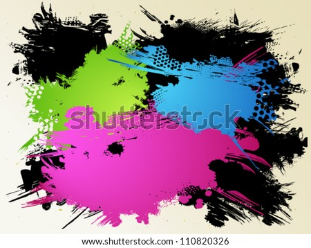 Abstract background with color stains - stock vector