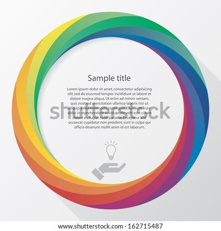 Abstract background with color wheel and white free space for sample text. Vector.