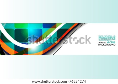 abstract background with colored squares - stock vector