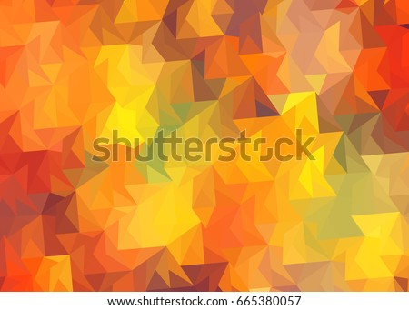 Abstract background with colored triangles autumn leaves fall /Abstract background autumn leaves fall