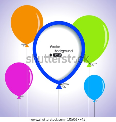 Abstract background with colorful balloons