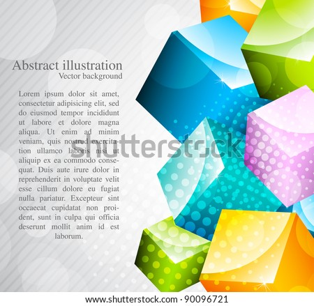 Abstract background with colorful cubes