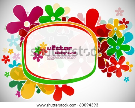 Abstract background with colorful design of flowers, vector illustration.