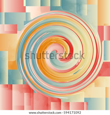 Abstract background with colorful, grunge background, background with geometric and twist style, vintage color tone