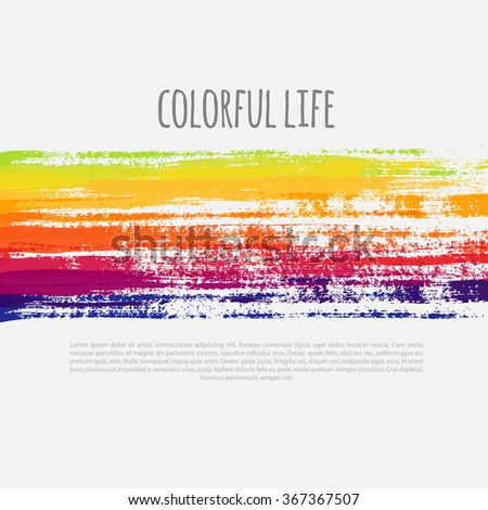 abstract background with colorful grunge lines, vector colorful banner