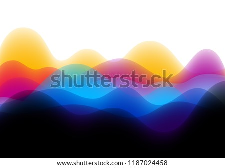 Abstract Background with Colorful Music Wave Concept. Vector Illustration of Volume Sound. Bright Bg for Banners, Posters and Designs