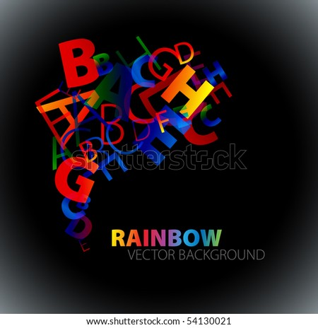 stock-vector-abstract-background-with-colorful-rainbow-letters