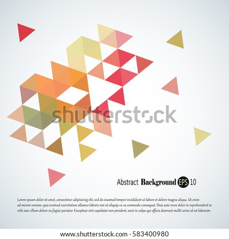 Abstract background with colorful triangles and squares
