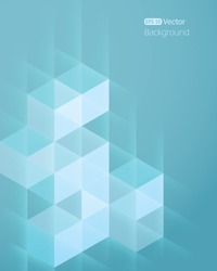 Abstract background with cube 2