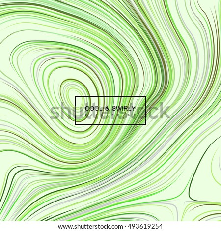 abstract background with curled