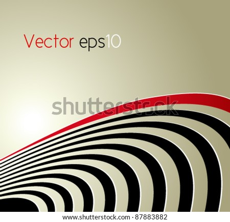 Abstract background with curved lines - symbolic concept of acoustic sound waves, radio waves and technical vibrations - suitable for music, business and technology designs - cd cover