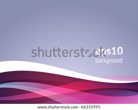 Abstract background with curved waves. Vector illustration.