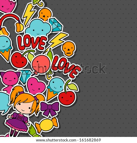 abstract background with cute