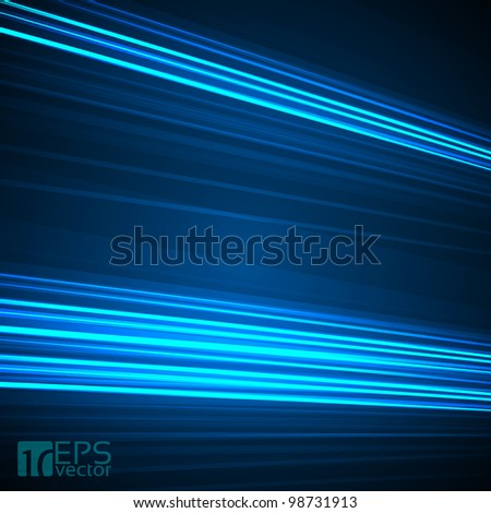 Abstract background with 3D blue lines. EPS10 Vector illustration