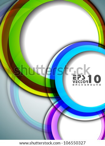 Abstract background with 3D circles. EPS 10