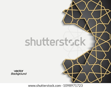 Abstract background with 3d geometric design