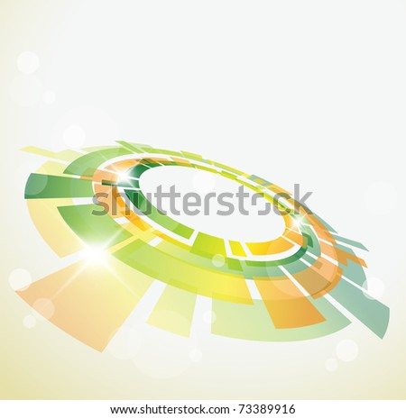 Abstract background with 3D  object and place for your text