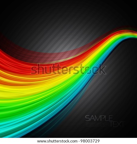 Abstract background with 3D rainbow lines. EPS10 Vector illustration