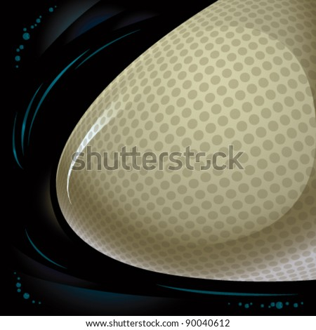 Abstract background with 3d shape, vector illustration. - stock vector