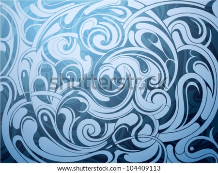 Abstract background with decorative waves