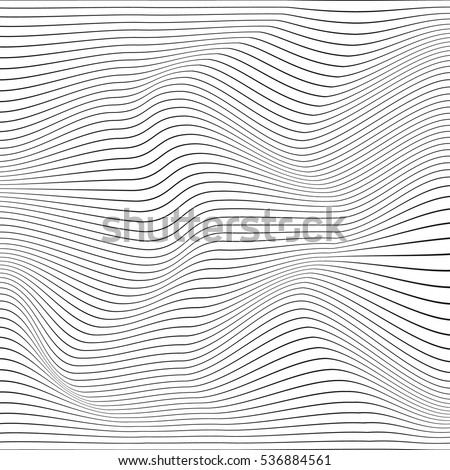 Abstract background with distorted shapes on a white background. Monochrome image. Сток-фото ©