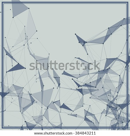 Abstract background with dotted grid and triangular cells #384843211