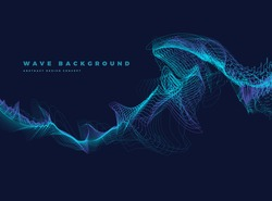 Abstract Background with Dynamic Particle sound waves