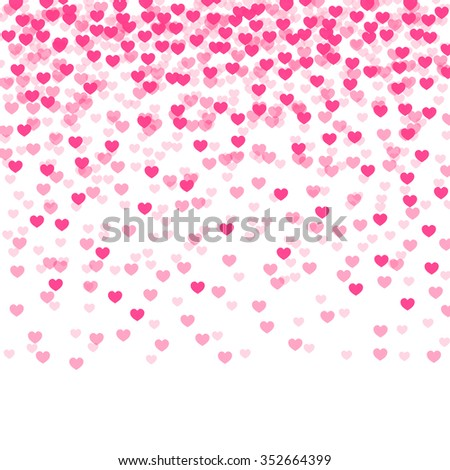 abstract background with falling hearts. vector illustration