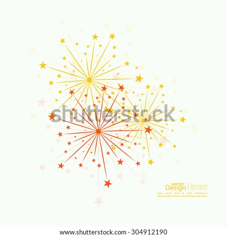 Abstract background with fireworks.