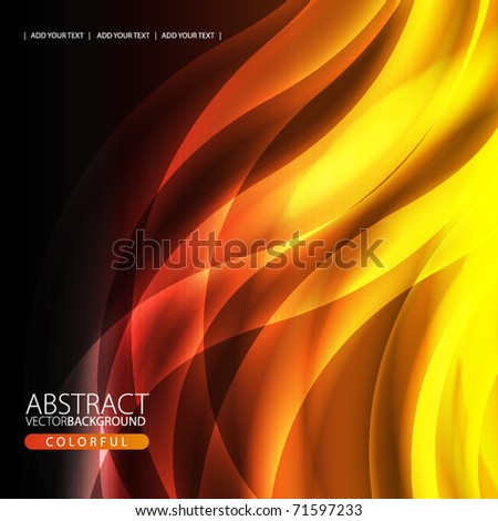 Abstract background with flame