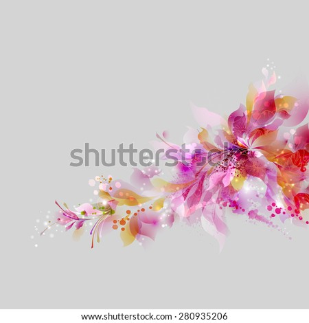 abstract background with floral
